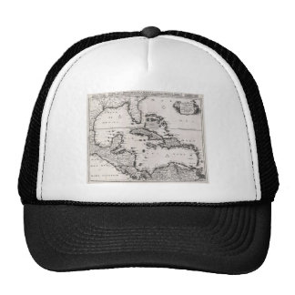 Vintage Map of The Caribbean (1696) Trucker Hat