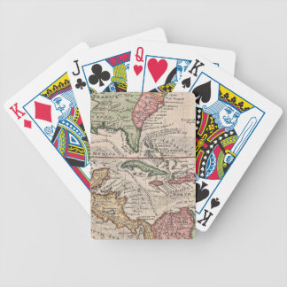 Vintage Map of The Caribbean (1732) Bicycle Playing Cards