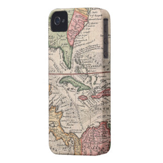 Vintage Map of The Caribbean (1732) iPhone 4 Cases