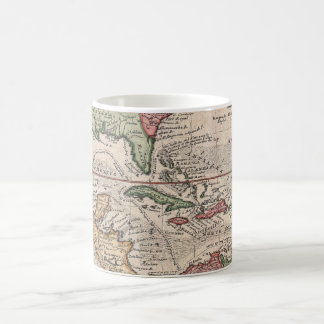 Vintage Map of the Caribbean (1732) Classic White Coffee Mug