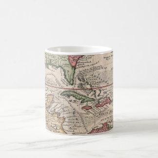 Vintage Map of the Caribbean (1732) Coffee Mug
