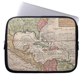 Vintage Map of the Caribbean (1732) Computer Sleeve