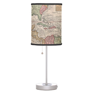 Vintage Map of the Caribbean (1732) Desk Lamp