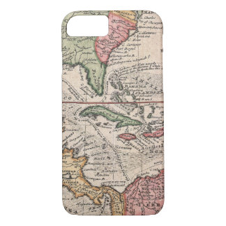 Vintage Map of The Caribbean (1732) iPhone 8/7 Case