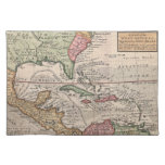 Vintage Map of the Caribbean (1732) Placemats