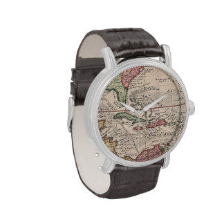 Vintage Map of the Caribbean 1732 Wrist Watch