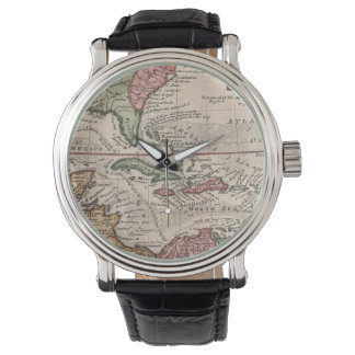 Vintage Map of the Caribbean (1732) Watches