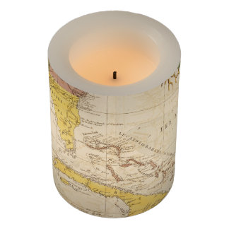 Vintage Map of The Caribbean (1754) Flameless Candle