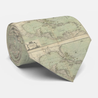 Vintage Map of The Caribbean (1774) Tie