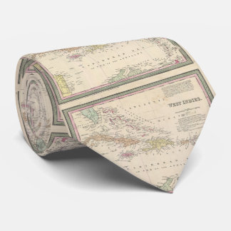 Vintage Map of The Caribbean (1850) Tie