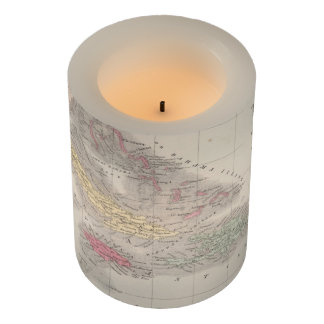 Vintage Map of The Caribbean (1857) Flameless Candle