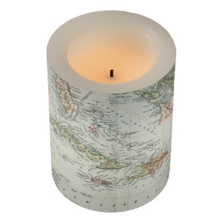 Vintage Map of The Caribbean (1892) Flameless Candle
