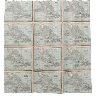 Vintage Map of The Caribbean (1893) Shower Curtain