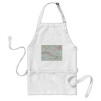 Vintage Map of The Caribbean (1901) Adult Apron