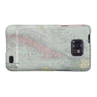 Vintage Map of The Caribbean (1901) Galaxy SII Covers
