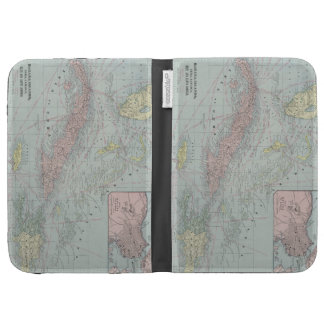 Vintage Map of The Caribbean (1901) Kindle Keyboard Cases