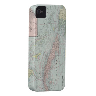 Vintage Map of The Caribbean (1901) iPhone 4 Case-Mate Case
