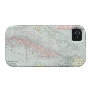 Vintage Map of The Caribbean (1901) iPhone 4 Case