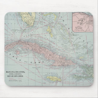 Vintage Map of The Caribbean (1901) Mouse Pad