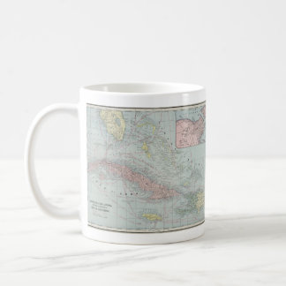 Vintage Map of The Caribbean (1901) Classic White Coffee Mug