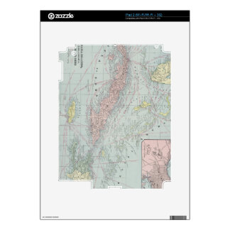 Vintage Map of The Caribbean (1901) iPad 2 Skins