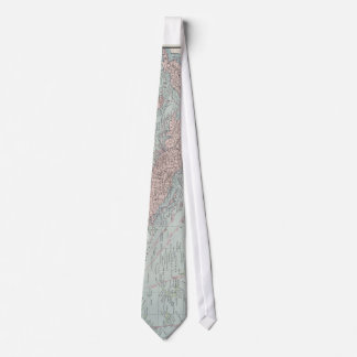 Vintage Map of The Caribbean (1901) Tie