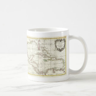 Vintage Map of the Caribbean Coffee Mug