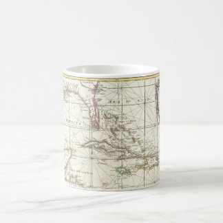Vintage Map of the Caribbean Classic White Coffee Mug