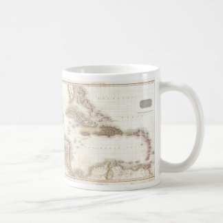 Vintage map of the Caribbean Sea Classic White Coffee Mug