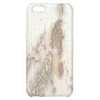 Vintage map of the Caribbean Sea iPhone 5C Cover