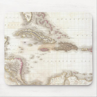 Vintage map of the Caribbean Sea Mouse Pad
