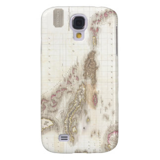 Vintage map of the Caribbean Sea Samsung Galaxy S4 Case