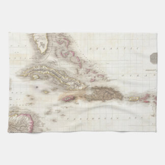 Vintage map of the Caribbean Towel