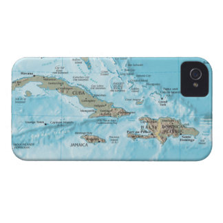 Vintage Map of the Caribbean - U.S. iPhone 4 Case-Mate Cases