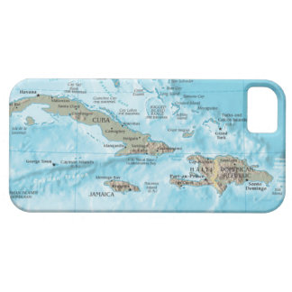 Vintage Map of the Caribbean - U.S. iPhone 5 Covers