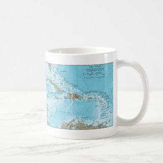 Vintage Map of the Caribbean - U.S. Classic White Coffee Mug