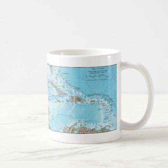 Vintage Map of the Caribbean - U.S. Coffee Mug