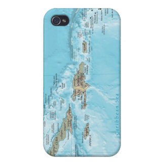 Vintage Map of the Caribbean - U.S. iPhone 4/4S Cases