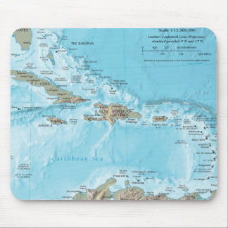 Vintage Map of the Caribbean - U.S. Mouse Pad