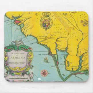 Vintage Map of the Carolina Coast Mouse Pad