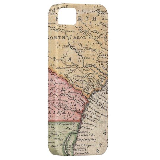 Vintage Map of The Carolinas (1746) iPhone SE/5/5s Case