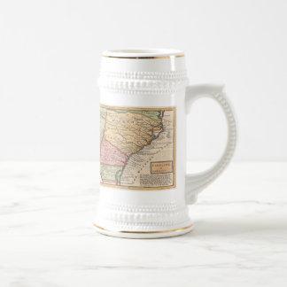 Vintage Map of the Carolinas (1746) Coffee Mugs