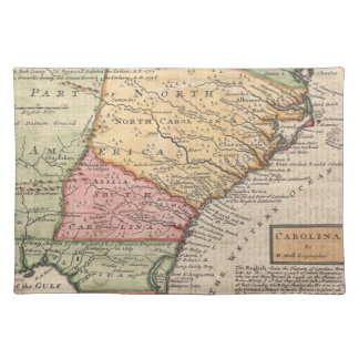 Vintage Map of the Carolinas (1746) Placemat