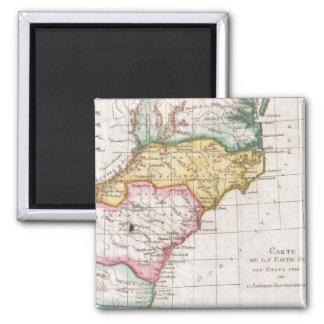 Vintage Map of The Carolinas (1780) Magnet