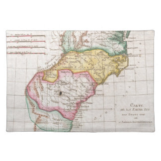 Vintage Map of The Carolinas (1780) Placemat
