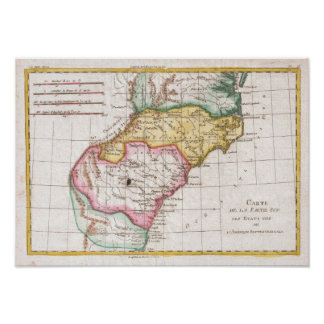 Vintage Map of The Carolinas (1780) Poster