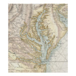 Vintage Map of The Chesapeake Bay(1778) 2 Poster