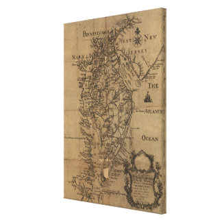 Vintage Map of The Chesapeake Bay (1778) Canvas Print