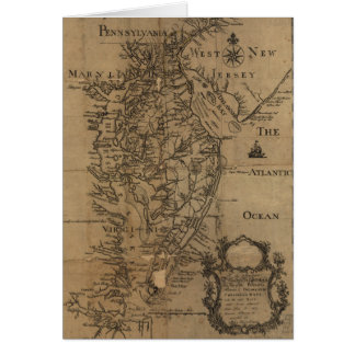 Vintage Map of The Chesapeake Bay (1778) Card
