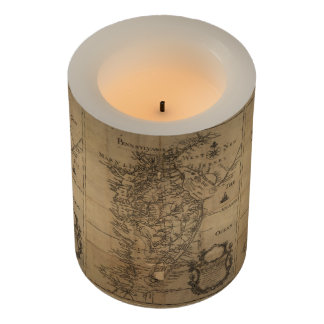 Vintage Map of The Chesapeake Bay (1778) Flameless Candle